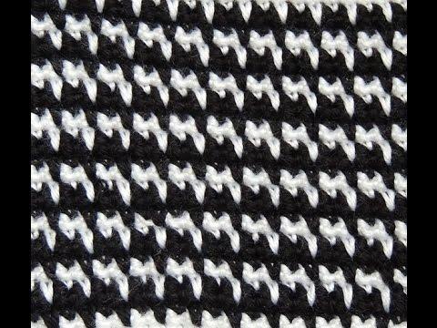 Crochet   Pied de Poule - YouTube 579faa5cfdb0