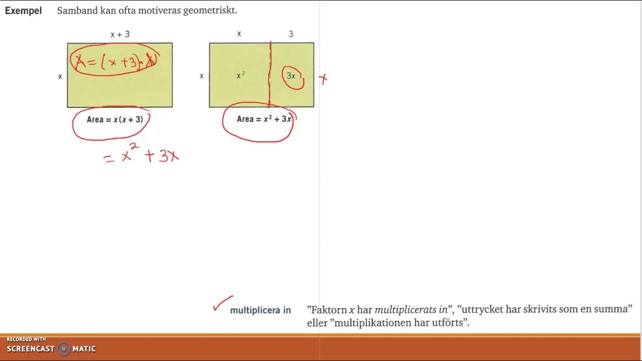 Genomgång av Matematik 5000 Ma 2c   Kapitel 1   Räkna med algebraiska uttryck