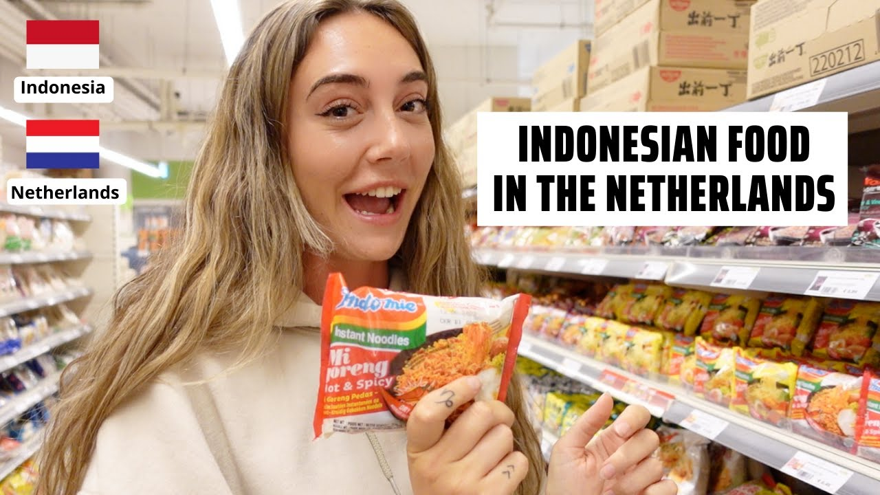 We tried INDONESIAN food in THE NETHERLANDS - (vegetable) Indomie, Kue bacon & Nata de coco