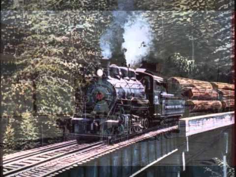logging railroad paintings.wmv - YouTube |Reading Railroad Train Art Prints