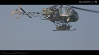 Extreme Low Fly Pass Cheetah Helicopter