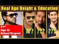 Tollywood Top Stars Real Age Height and Education
