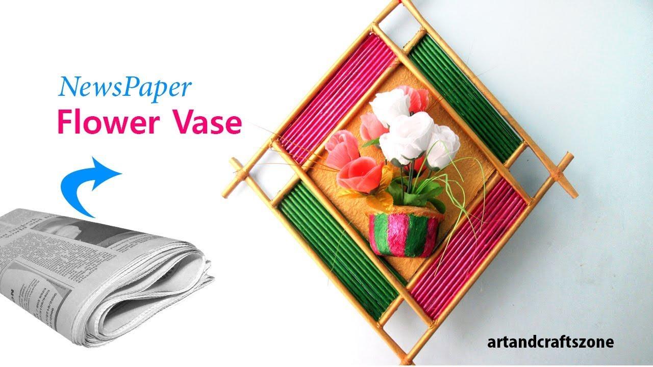 How to make newspaper flower vase diy newspaper crafts for Waste from best making