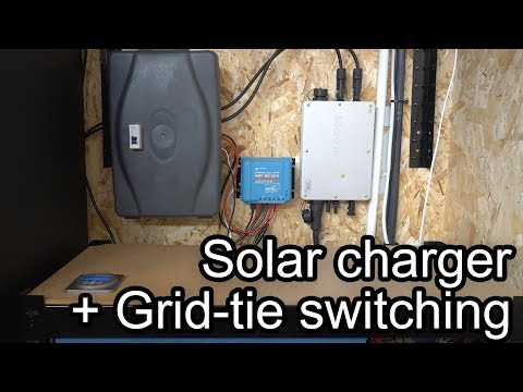 AUTO SWITCHING A SOLAR CHARGE CONTROLLER AND A GRID TIE INVERTER