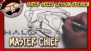 Lesson Preview: How to Draw MASTER CHIEF (Halo)