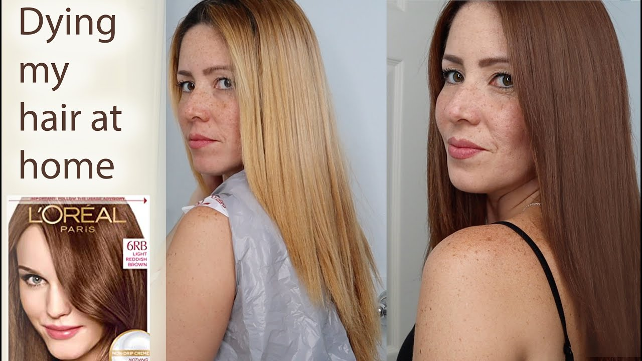 Dying My Hair From Blonde To Brown At Home Box Dye Youtube
