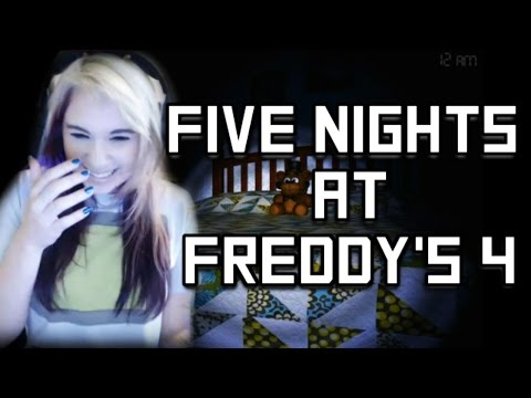 Five Nights At Freddy's 4: I CAN'T HANDLE THIS GAME! w/Facecam - Walkthrough/Gameplay - Night 1