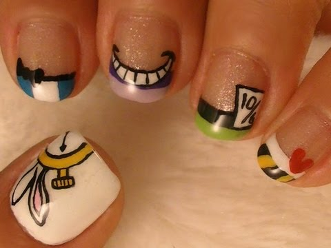 Alice In Wonderland Nail Art Youtube