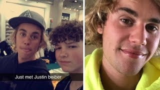 Imagine bumping into Justin Bieber when you're out shopping and becoming BFFs