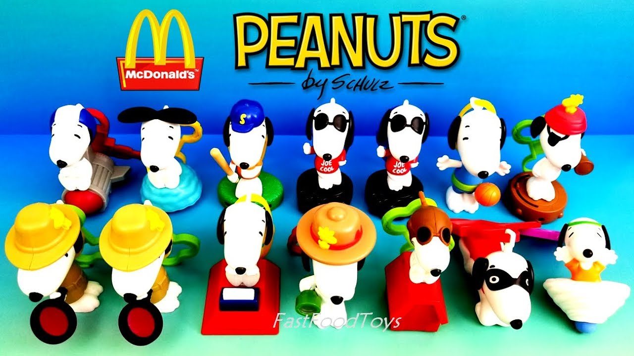 b919f8afae 2018 FULL WORLD SET McDONALD S PEANUTS SNOOPY HAPPY MEAL TOYS 14 KID ASIA  EUROPE USA NEW YEAR DOG