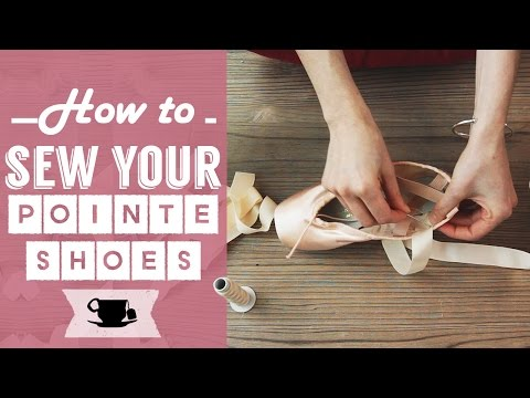 How To Sew Ribbons and Elastics on Your Pointe Shoes | Lazy Dancer Tips