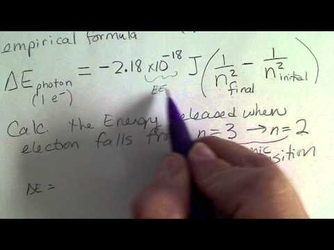 Calculate the Energy, frequency & wavelength of an electron transition in the Bohr Atom.