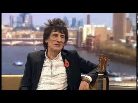 Ronnie Wood performing and speaking on the Andrew Marr Show BBC Two 27th October 2013