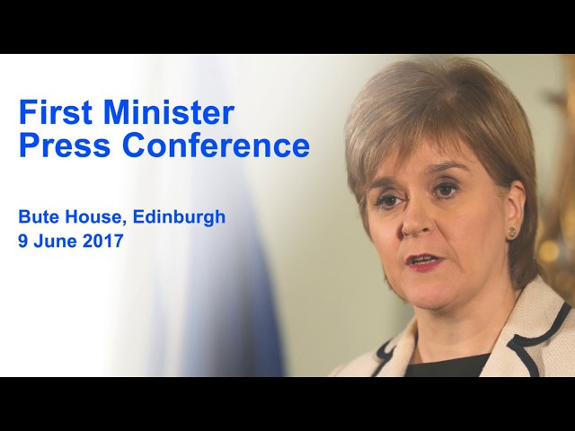 First Minister Press Conference