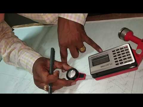 #Area Measurement Using Planimeter _By- HOD OF CIVIL.-@S.K Aade Sir#
