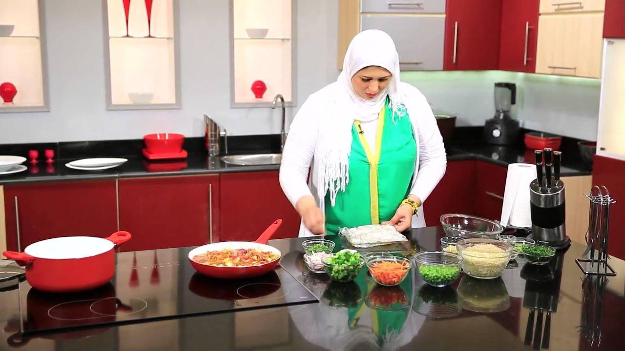 طاجن الكالمارى - جمبرى مع الأرز المحمر : أتفضلو عندنا حلقة كاملة