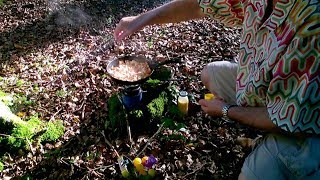 Foraging For Mushrooms And Cooking In The Woods