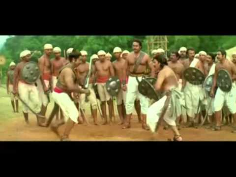 Pazhashi Raja  Fight seen  Mammootty &...