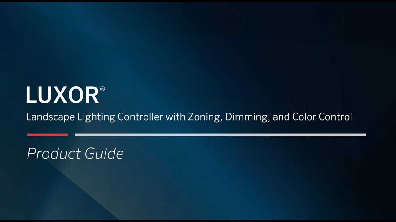 luxor landscape lighting controller with zoning dimming and color control
