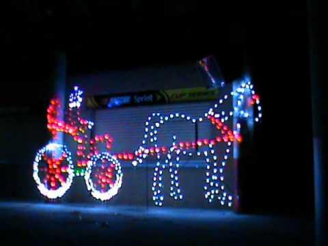 Atlanta motor speedway 39 s gift of lights youtube for Atlanta motor speedway light show