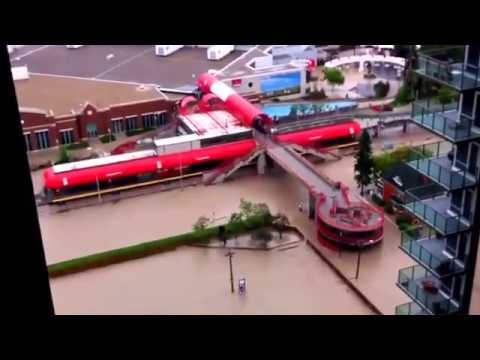 Calgary Downtown Flooding - Alberta Floods  2013
