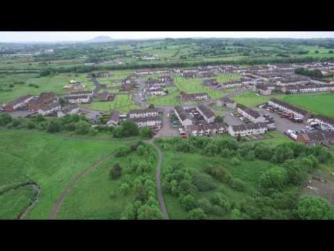 Aerial View of Ballykeel Estates Ballymena Northern Ireland
