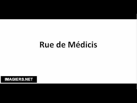 How to pronounce Rue de Médicis