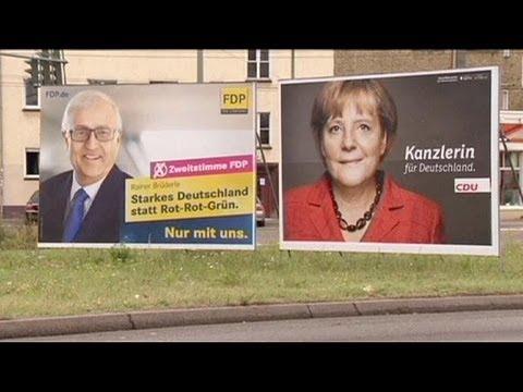 Merkel's Free Democrat coalition partners in trouble in Germany election race