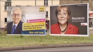 Merkel's Free Democrat coalition partners in trouble in Germany election race