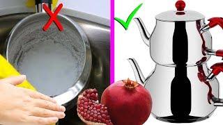 Nar ile Kireçli Çaydanlık Nasıl Pırıl Pırıl Parlatılır - Gözlerinize İnanamıycaksınız