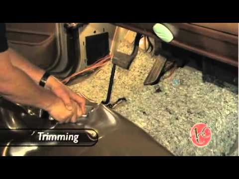 Installing Vinyl Flooring In A Pickup Truck   Replacing Your Truck Carpet    YouTube
