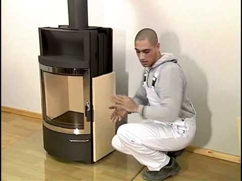 ofenverkleidung kaminofen hark 44 gt youtube. Black Bedroom Furniture Sets. Home Design Ideas