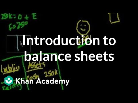 Introduction to Balance Sheets | Housing | Finance & Capital Markets | Khan Academy