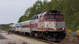 MBTA Trains in Bridgewater