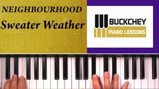 How To Play Sweater Weather by The Neighbourhood on Piano