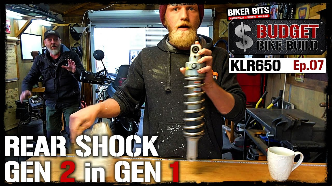 KLR650 Rear Shock Replacement! - Budget Bike Build - Ep.07