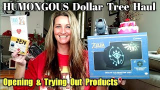 HUMONGOUS Dollar Tree Haul | Trying Out Products | ALL NEW Nov 29