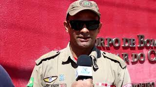 Bombeiros Militar em Limoeiro do Norte, capturam mais uma cobra Jiboia e falam da situação de serpen