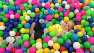 Indoor playground Family Fun Play Area for kids with Amelia and Leon.