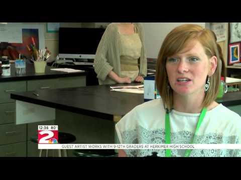 Guest artist visits Herkimer High School