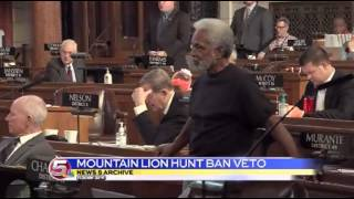 News 5 at 11:30 - Heineman vetoes mountain lion hunting ban / March 28, 2014