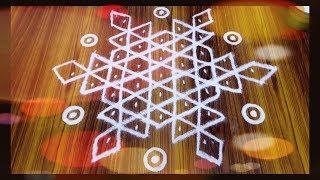 மங்கள ஐஸ்வர்ய கோலம்|பூஜை கோலம்| Aishwarya kolam| pooja rangoli with dots.