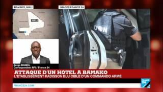 """Attaque de Bamako : """"L'assaut est toujours en cours. Les jihadistes contrôlent un étage de l"""