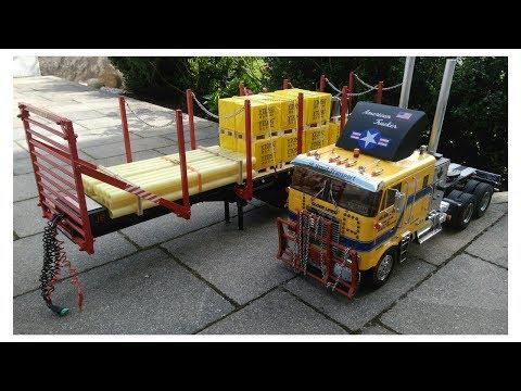 Unser Globeliner Rungenauflieger in Eigenbau, Globe Liner wood transport trailer DIY construction