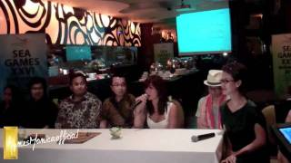 Agnes Monica - SeaGames 2011 Press Conference