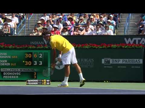Federer vs Djokovic 2011 Indian Wells  Semi Final (HD)