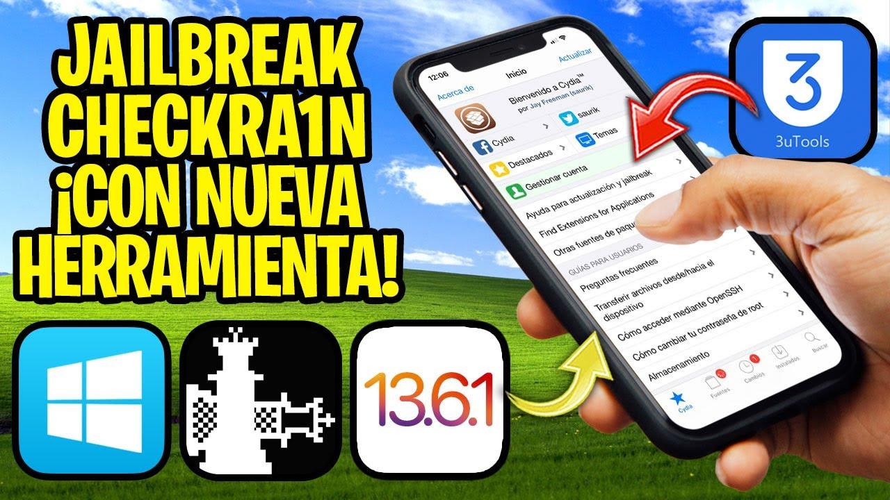 TUTORIAL ✅ ¡CHECKRA1N EN WINDOWS! Jailbreak iOS 13.6.1 y 12.4.8 (3uTools)