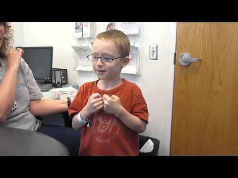Evan's hearing aid reaction