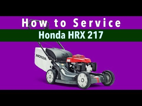 How To Tune Up The Honda HRX217 Mower - (Link to Kit in Description)