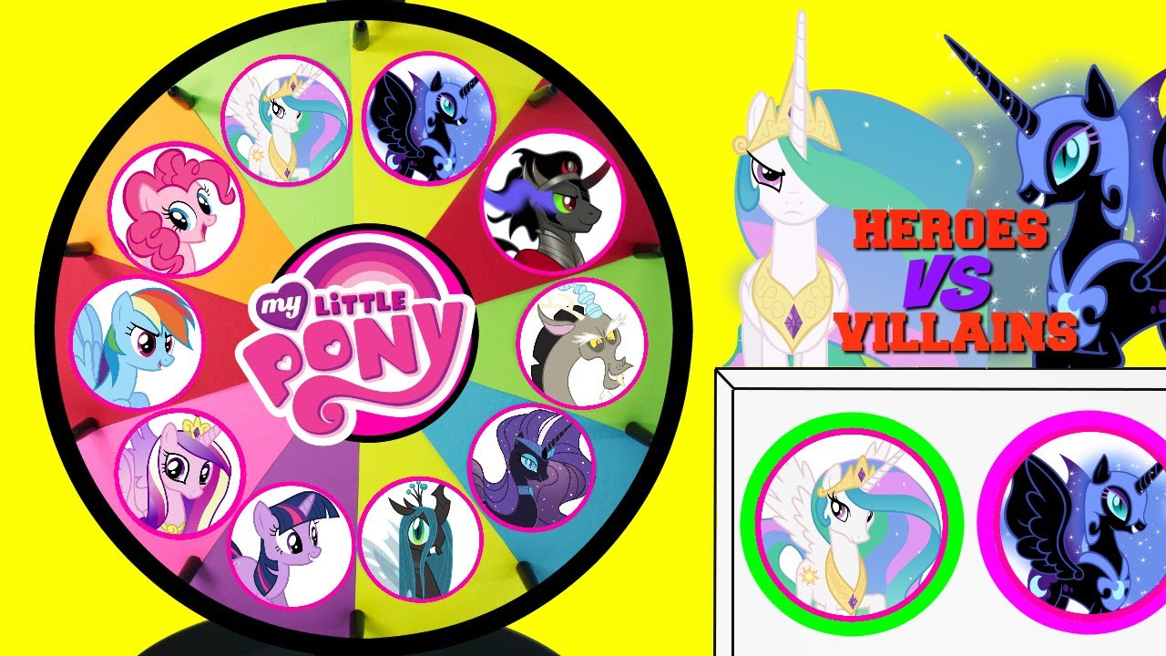 MY LITTLE PONY Heroes VS Villains Spinning Wheel Game Punch Box Toy Surprises #1
